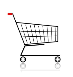 Supermarket cart for your design vector image vector image