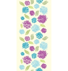 Textured painted flower vertical seamless pattern vector image vector image