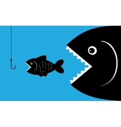 big fish with bait vector image