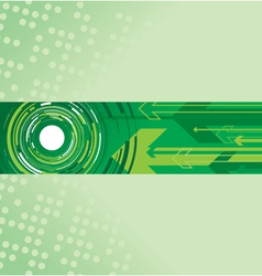 green circle and arrow background vector image vector image
