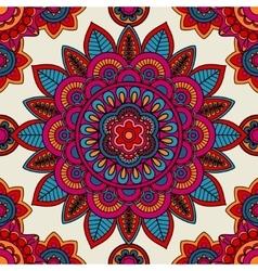 Mandala boho hand drawn seamless pattern vector image
