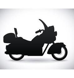 Motorcycle design vector image vector image
