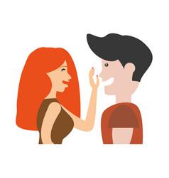 portrait couple romantic lovely image vector image