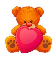 red teddy bear vector image