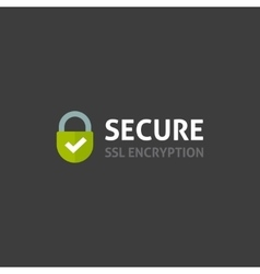Secure internet connection icon secured ssl vector image
