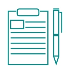 Blank note paper with pen document office page vector