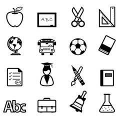Education Icons black vector image vector image