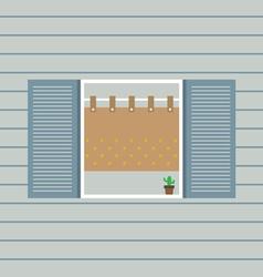 Flat Design Window vector image vector image