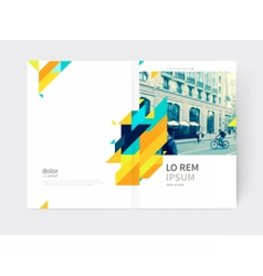 Flyer booklet annual report cover template vector