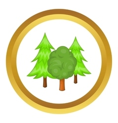 Forest trees icon vector image vector image