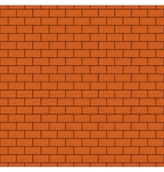 Russet Brick Wall Seamless Pattern vector image vector image
