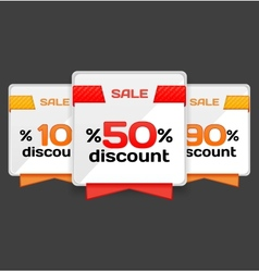 Sale or discount tag vector image vector image
