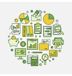 Accounting and business vector