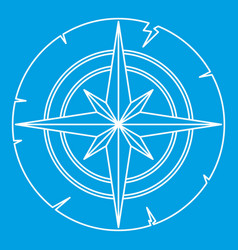 Ancient compass icon outline vector