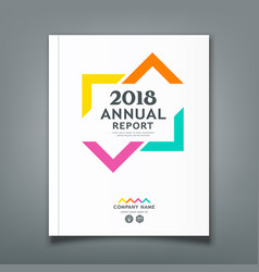Annual report colorful triangle design vector