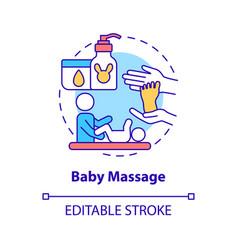 Baby massage concept icon vector