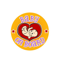 baby on board embryo in the womb vector image