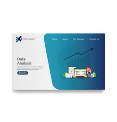 Big data analysis on screen seo analytic vector