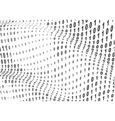 binary computer code background or gradient 01 vector image