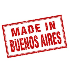 Buenos Aires red square grunge made in stamp vector
