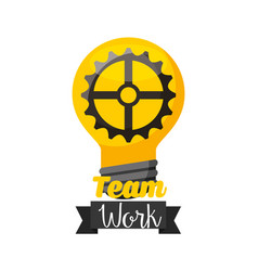 Bulb teamwork isolated icon vector