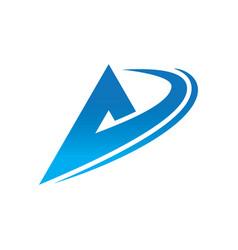 business triangle swirl logo vector image