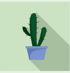 cactus icon flat style vector image