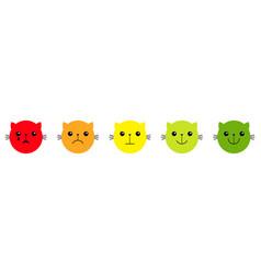 cat kitten kitty smiley face satisfaction vector image