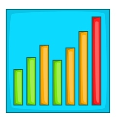 Chart graph icon cartoon style vector