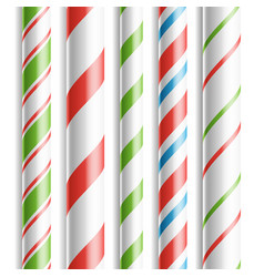 Christmas candy cane horizontal seamless vector