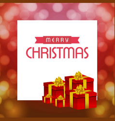 christmas cards with gift box and pattern vector image