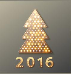 christmas tree retro light banner vector image