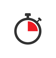 clock sign icon in flat style time management on vector image