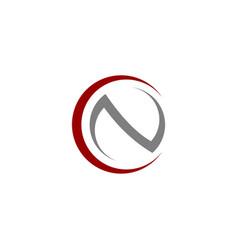 cn letter logo template vector image