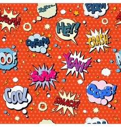 Comics Bubbles Seamless Pattern in Pop Art Style vector image