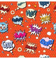 Comics Bubbles Seamless Pattern in Pop Art Style vector