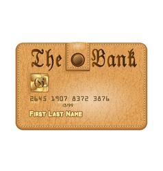 conceptual credit card vector image