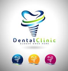 Dental Implants Logo vector image