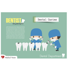 Dentist check up your teeth and look for dental vector