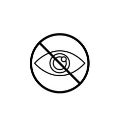 Do not spy line icon prohibition sign forbidden vector