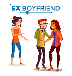 ex boyfriend young couple past vector image