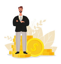 financial advisor businessman is standing near vector image