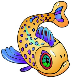 Fish with dots vector image