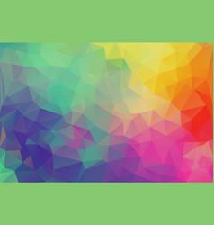 flat design multicolor triangle wallpaper vector image