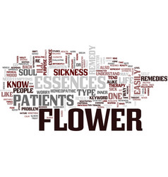 Flower essences text background word cloud concept vector