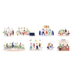 Friends time together happy people have fun vector