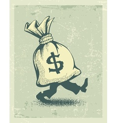 Full sack of money sign vector image