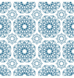 geometric seamless pattern with circular shapes vector image
