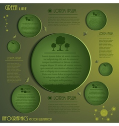 Green Ecology Infographics vector