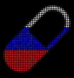 Halftone russian medication granule icon vector